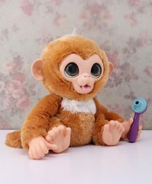 FurReal Check up Zandi Soft Toy with Thermometer Brown - Height 25 cm