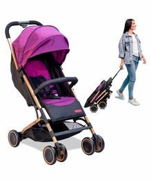 Fisher Price Fly Light Stroller Cum Pram with Cushioned Backrest - Purple