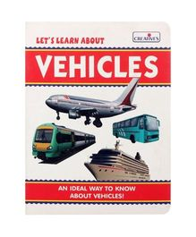 Creatives Let's Learn About Vehicles Book - English