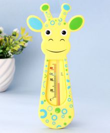 Giraffe Shape Bathwater Thermometer - Yellow