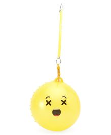 PVC Ball With Detachable Spring - Yellow