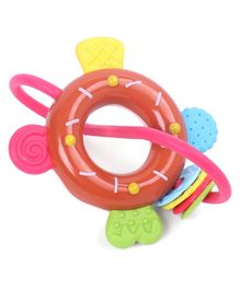 Donut Shaped Baby Rattle - Multicolor