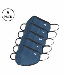 Wildcraft W95+ Reusable Large Size Supermask Blue - Pack of 5