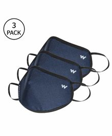 Wildcraft W95+ Reusable Medium Size Supermask Blue - Pack of 3