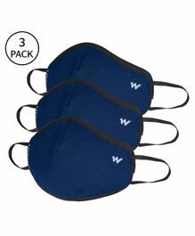Wildcraft W95 Reusable Anti Pollution Face Mask Large Size Blue - Pack of 3