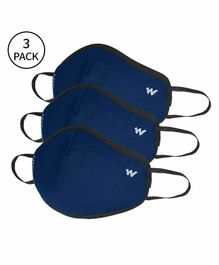 Wildcraft W95 Reusable Anti Pollution Face Mask Small Size Blue - Pack of 3