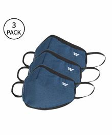 Wildcraft W95+ Reusable Large Size Supermask Blue - Pack of 3