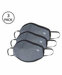 Wildcraft W95+ Reusable Large Size Supermask Dark Grey- Pack of 3