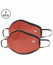 Wildcraft W95 Reusable Anti Pollution Face Mask Medium Size Orange - Pack of 2