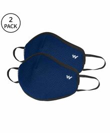 Wildcraft W95 Reusable Anti Pollution Face Mask Large Size Blue - Pack of 2