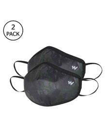 Wildcraft W95 Reusable Face Mask Large Size Brown - Pack of 2
