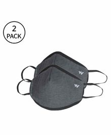 Wildcraft W95 Reusable Face Mask Small Size Dark Grey - Pack of 2