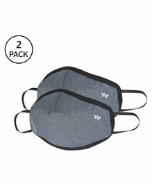 Wildcraft W95 Reusable Face Mask Small Size Grey - Pack of 2