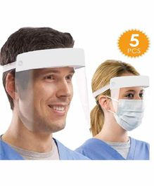 Babymoon 350 Microns Large Film Surgical Face Shield Backed by Density Foam of 25 mm  - Pack of 5