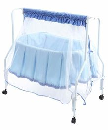Kiddery Lyra Luxury Cradle with Mosquito Net - Blue