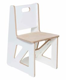 Kiddery Montessori Wooden Kid's Chair - White