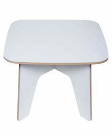 Kiddery Montessori Wooden Kid's Table - White