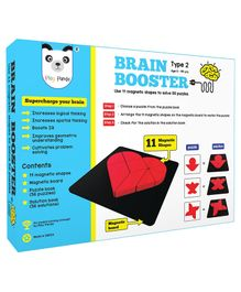 Play Panda Brain Booster Magnetic Shapes Puzzle Black - 9 Pieces