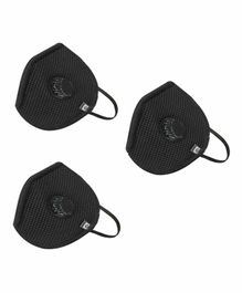 Hotshot H95 Large Size Reusable Outdoor Mask with Filter Black - Pack of 3