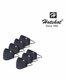 Hotshot Reusable Large Mask with HypaShield Black - Pack of 7