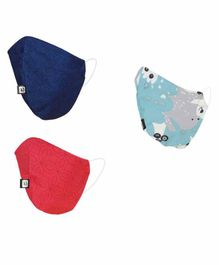 Hotshot Reusable Face Mask Large Size Multicolor - Pack of 5