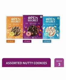 Open Secret Nutty Cookies Combo Pack of 3 - 25 gm Each