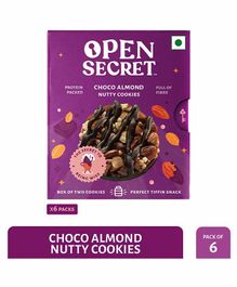 Open Secret Choco Almond Nutty Cookies Purple Pack of 6 - 25 gm each