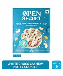 Open Secret White Choco Cashew Nutty Cookies Blue Pack of 6 - 25 gm Each