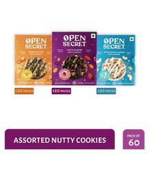 Open Secret Nutty Cookies Combo Pack of 60 - 25 gm Each