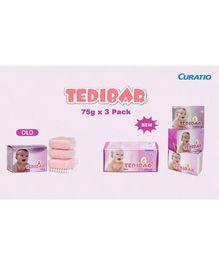 Curatio Tedibar Bathing  Bars Pack of 3 - 75 gm Each