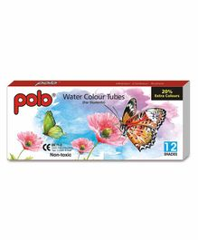 Polo Water Colour Tubes for Students - 12 Shades