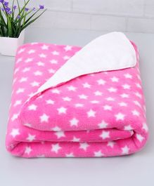 Zoe Poly Wool Blanket Star Design - Light Pink