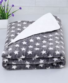 Zoe Poly Wool Blanket Star Design - Grey