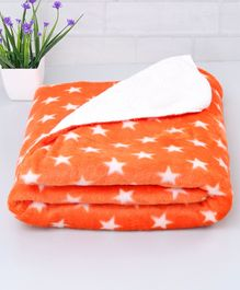 Zoe Poly Wool Blanket Star Design - Orange