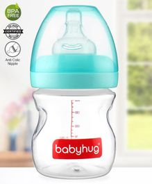 Babyhug Wide Neck Feeding Bottle Green - 160 ml