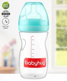 Babyhug Wide Neck Feeding Bottle Green  - 260 ml