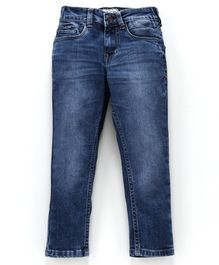 Sodacan Solid Full Length Front Pocket Jeans - Blue