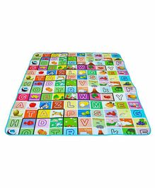 Muren Double Sided Play Mat Alphabets Print - Multicolor