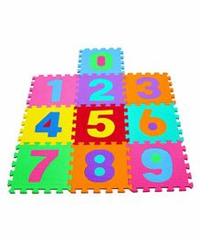 Muren Interlocking Play Mat Numbers Print - Multicolor