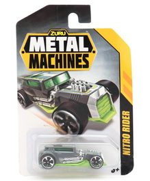 Metal Machines Free Wheel Nitro Rider Car Toy - Green