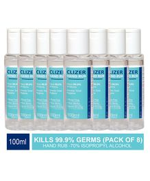 Magic Seat Clizer Alcohol Based Hand Sanitizer Pack of 8 - 100 ml Each