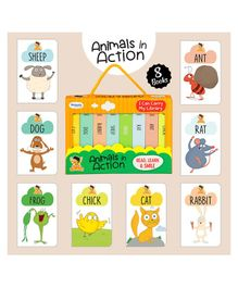 Laxmi Prakashan Animals in Action Board Books Pack of 8 - English