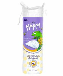 Bella Baby Happy Cotton Pads with D Panthenol & Bidens Extract - 70 Pieces