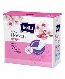 Bella Party Flowers Japanese Cherry Classic Panty Liners - 70 Pieces