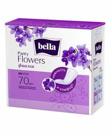 Bella Party Flowers Violet Classic Panty Liners - 70 Pieces