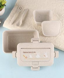 Lunch Box With Spoon & Fork 1.2 litres - Beige Light Grey