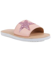 Aria+Nica Star Glitter Patch Sliders - Pink