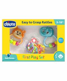 Chicco Baby Rattle Set Pack of 4 - Multicolor