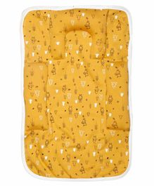Grandma's Premium Baby Bedding Set with Inbuilt Pillow & Bolsters Winnie The Pooh Print - Yellow