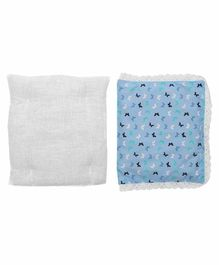 Grandma's Premium Finger Millet Pillow with 2 Pillow Covers Butterfly Print - Blue White